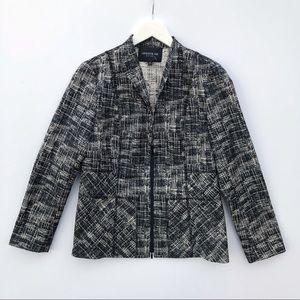 Lafayette 148 half zip blazer